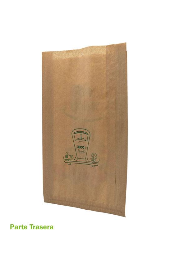 Bolsa de papel para fruta por detrás