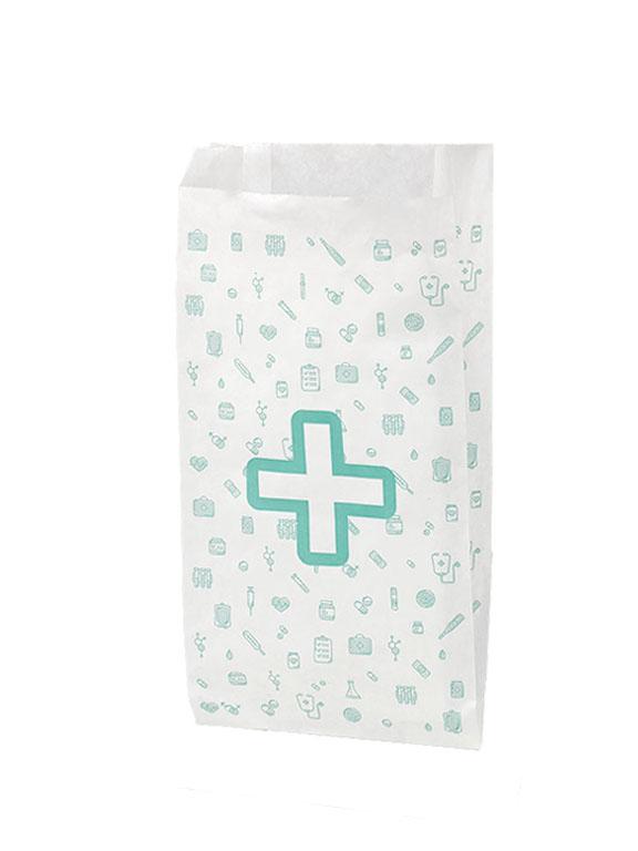 Bolsas para farmacia papel blanco