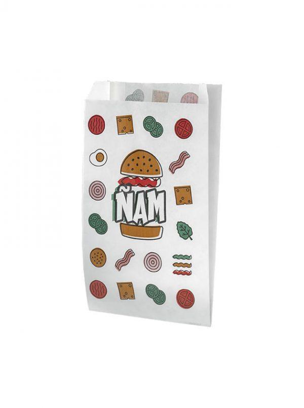 Bolsas de papel para hamburguesas anverso