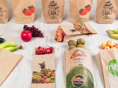 Bolsas de papel personalizadas para fruta