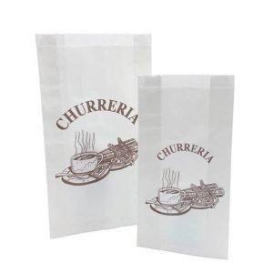 Bolsas para churrería papel blanco antigrasa