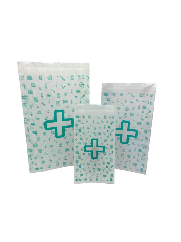 Bolsas para farmacia de diferentes tamaños