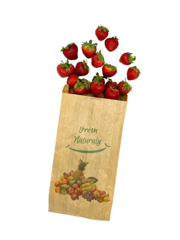 Bolsa frutería línea moderna para frutas