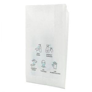 Bolsa de papel para mascarilla por detrás