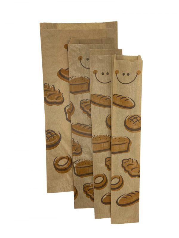 Bolsas de papel para pan diferentes tamaños